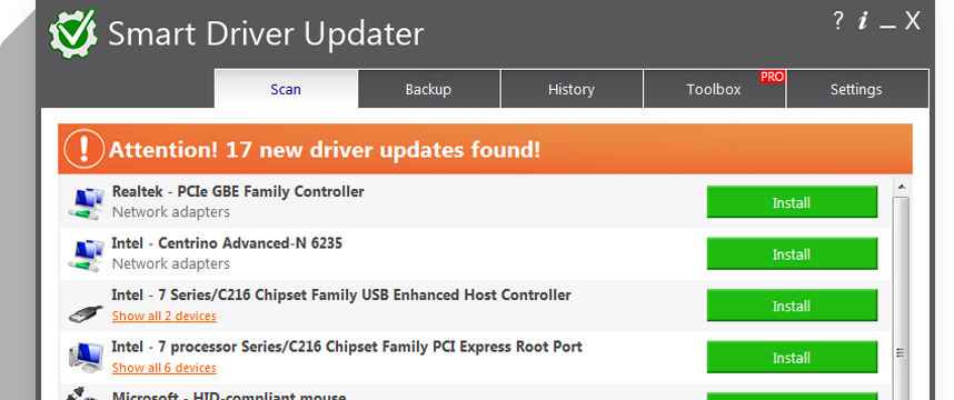 mouse drivers update